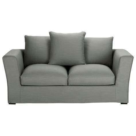 grey linen sofa 2 3 seater linen sofa in grey bruxelles maisons du monde