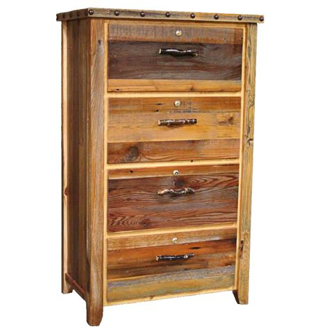 Locking Lateral File Cabinet with Barnwood Locking Lateral Filing Cabinet With Nailheads 4 Drawer