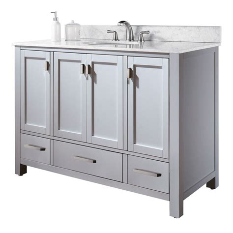 White Vanity Cabinets For Bathrooms 48 Quot Modero Bathroom Vanity White Bathroom Vanities Ardi Bathrooms
