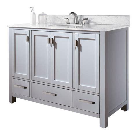 "48"" MODERO Bathroom Vanity (White) :: Bathroom Vanities"