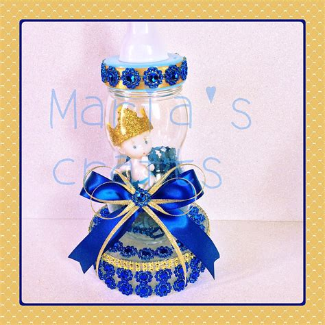 Royal Blue Prince Baby Shower Centerpiece Little Prince Cake Royal Baby Shower Centerpieces
