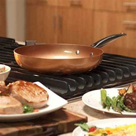 10 inch ceramic skillet with lid copper chef 10 inch frying pan with lid skillet