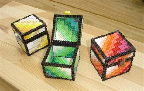 Handmade Minecraft - the handmade 8 bit treasure chest inspired by minecraft