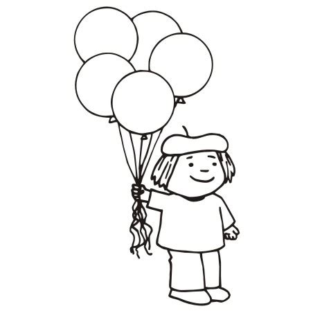 Black Bear Decorations Home by Kids With Balloons Clipart 19