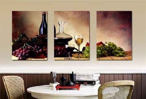 big size modern dining room wall decor wine fruit kitchen