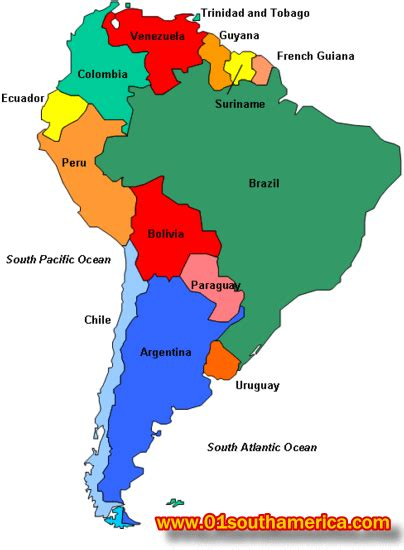 south america political map with major cities travel to south america information about south america
