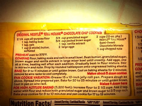 nestle toll house cookie recipe nestle toll house chocolate chip cookies recipe file autos post