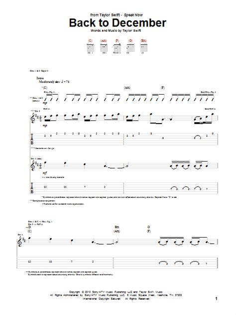 taylor swift back to december chord easy back to december by taylor swift guitar tab guitar