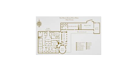 white house first floor plan first floor west wing the white house floor plan poster zazzle com
