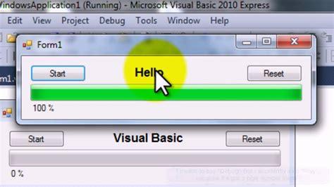 tutorial visual basic express 2010 hd visual basic 2010 express progress bar tutorial