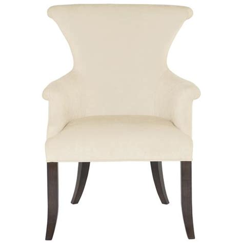 laurette modern classic ring pull ivory arm dining chair arm