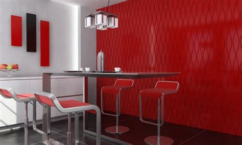 interior design red walls modern interior wall panels