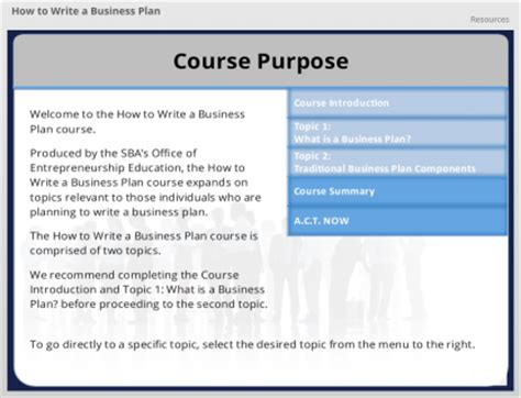 how to write a business plan the u s small business