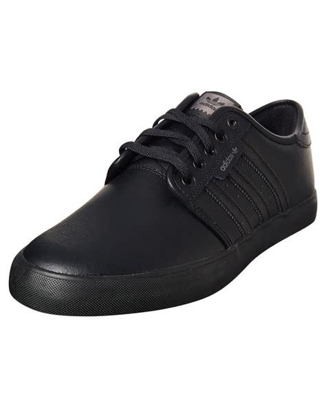 Adidas Shoes Mens Black by Adidas Originals Mens Seeley Leather Bts Shoe Black Black Surfstitch