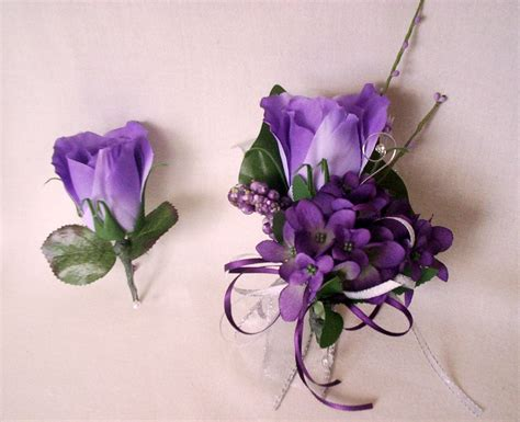 prom flowers prom flowers purple homecoming corsages by
