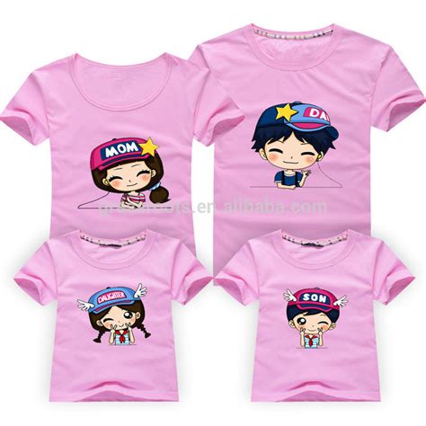 design tshirt family 2015 wholesale family round collar printed t shirt designs