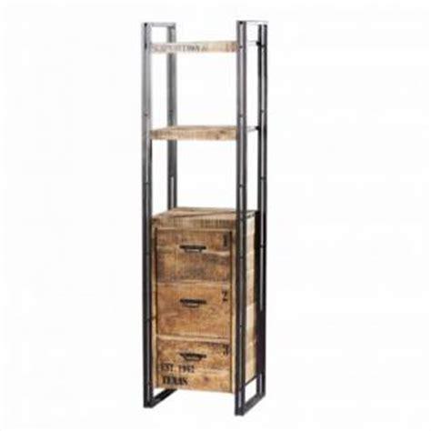 regal industriedesign regal mit f 252 nf b 246 den aus massivholz im industriedesign