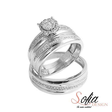imagenes de anillos de matrimonio en oro blanco quot trio de anillos quot de matrimonio oro blanco 10kt