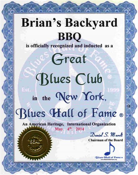 brians backyard bbq new york blues hall of fame 174 inducted legendary master
