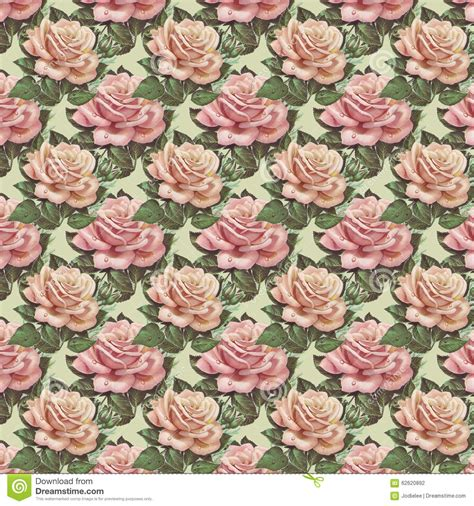 floral garden repeat pattern free pink vintage flower wallpaper background repeat stock