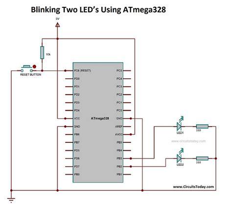 atmega328 blink led wiring diagrams wiring diagram schemes