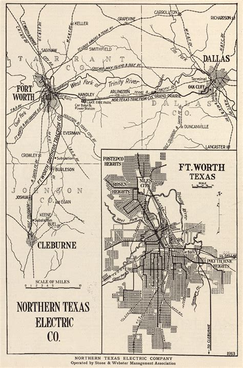 northern texas map electric interurban railways the handbook of texas texas state historical association