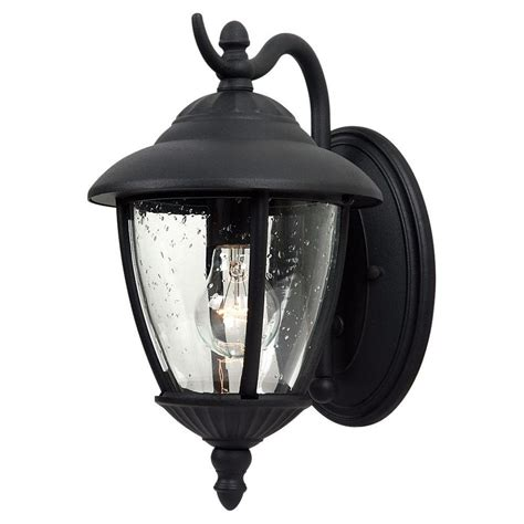 Sea Gull Lighting Fixtures Sea Gull Lighting Lambert Hill 1 Light Black Outdoor Wall