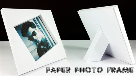 How To Make Picture Frames Out Of Paper - diy paper photo frame how to make a photo frame out of