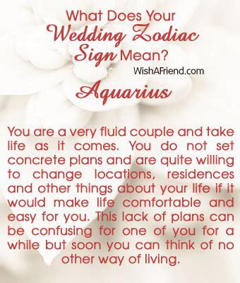 Wedding Zodiac by What Does Your Wedding Zodiac Sign Aquarius Your