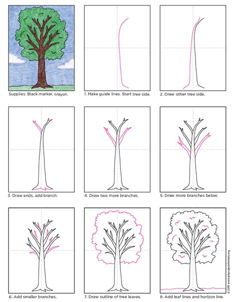 how to draw a tree diagram how to draw a tree projects for