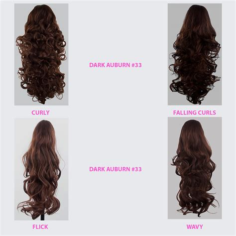 ponytails at work hair extensions types hair extensions ponytail clip in hair extensions dark auburn 33