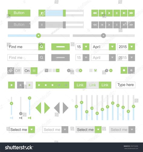 material design ui elements green material design ui elements vector buttons