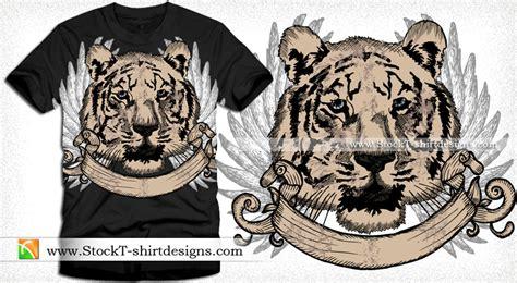 Tiger Lengan Panjang desain kaos grunge kaos