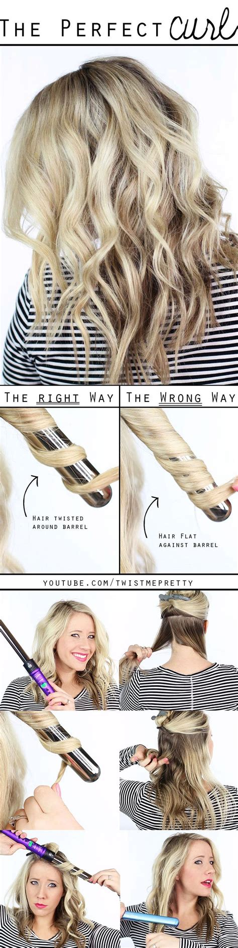 easy hairstyles using curling iron 25 best ideas about beach waves tutorial on pinterest