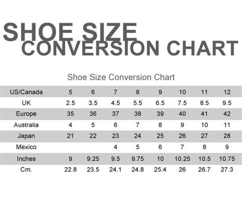 shoe size chart novo shoe size chart helpful tips for jcp pinterest shoe
