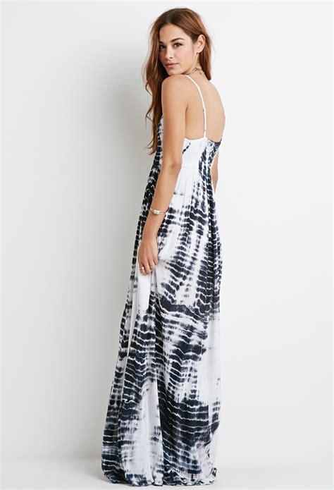 Dress Sofia White Black Maxi lyst forever 21 tie dye crochet maxi dress in white