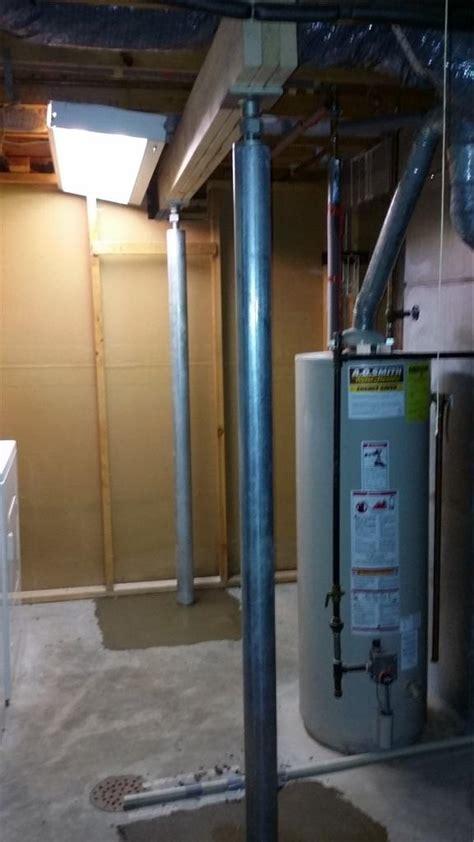 ayers basement systems foundation repair photo album sagging beams  match  smartjacks