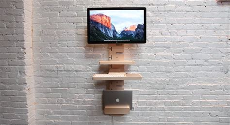 Space Saving Standing Desk That Holds All The Things You