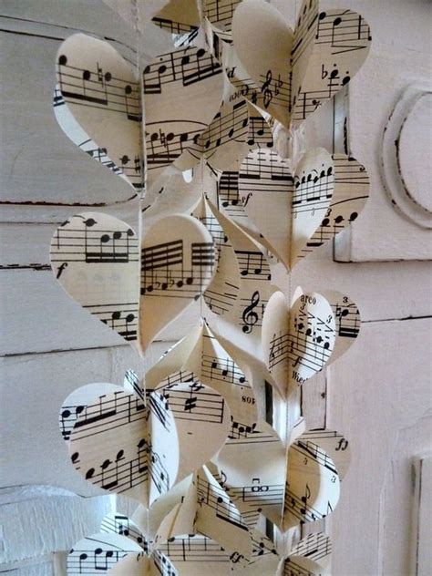 music themed easy to make romantic sheet music decorating projects diy