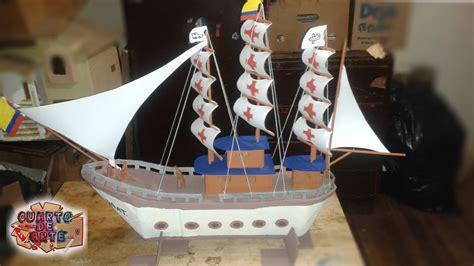 barco pirata hecho en carton como hacer un barco pirata de carton how to make a boat