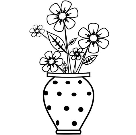 A Drawing Of A Flower by How To Draw A Flower Vase Step By Step How To Draw Flower