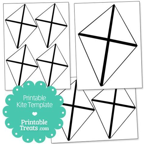 free printable kite template printable kite template from printabletreats shapes