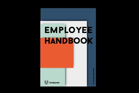Employee Handbook On Behance Employee Handbook Cover Design Template