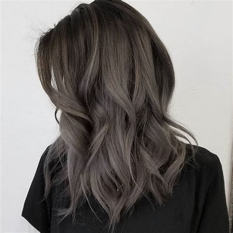 hairstyles with grey ombre dark grey ombr 233 hair color medium wavy hairstyle hair