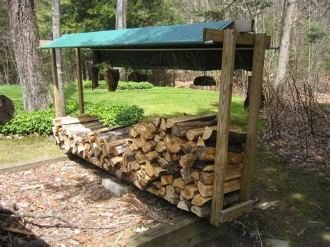 firewood storage covered dad stays home place