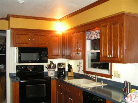 i would like to paint our kitchen soffits to update the mustard gold color the entire kitchen