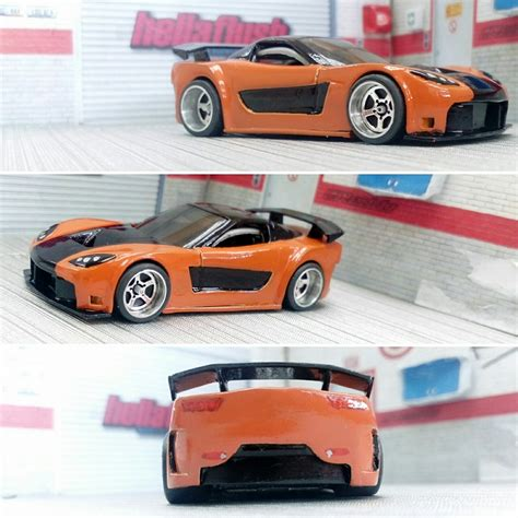 Wheels 95 Mazda Rx 7 Rx7 Hotwheels Biru Hw Blue your custom wheels 8 my custom hotwheels diecast cars