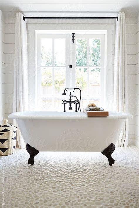 Modern Bathroom With Clawfoot Tub by Rustic Modern Farmhouse Bathroom In Small Cottage With