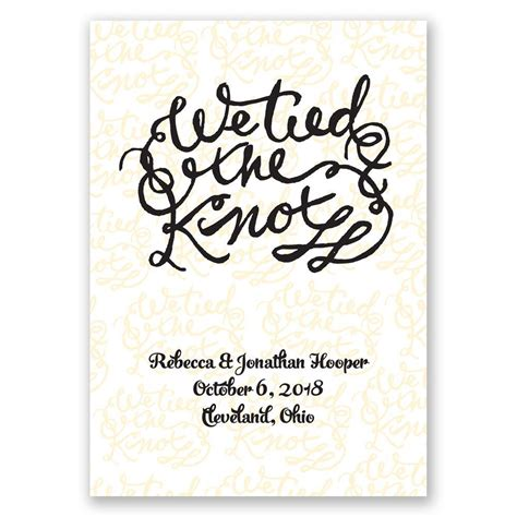 Wedding Announcement by The Knot Wedding Announcement Invitations By