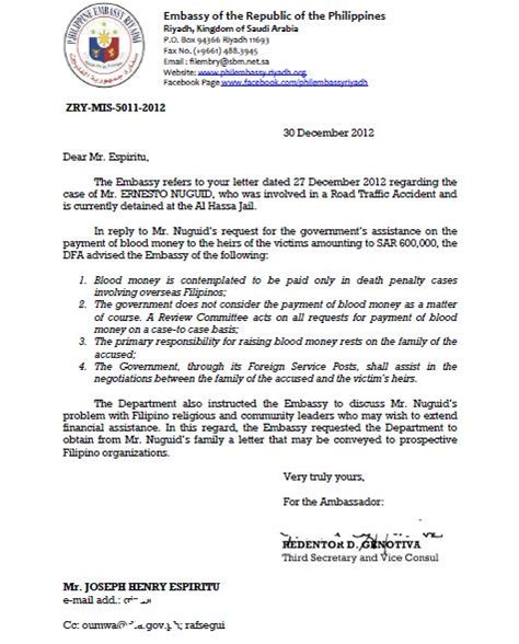Financial Assistance Letter Tagalog Patnubay Leaks Our Frustration On Oumwa S Unfair Response To Ofw Ernesto Jhigz Nuguid S